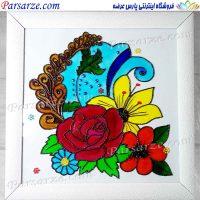 نقاشی ویترای گل
